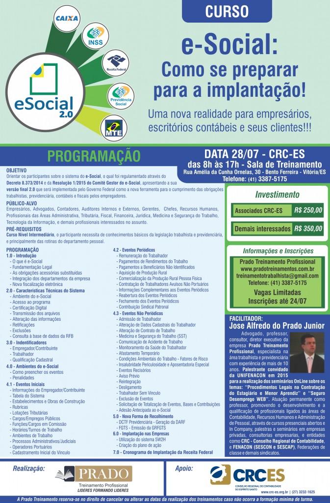 Cartaz pradro treinamentos(CRC-ES)