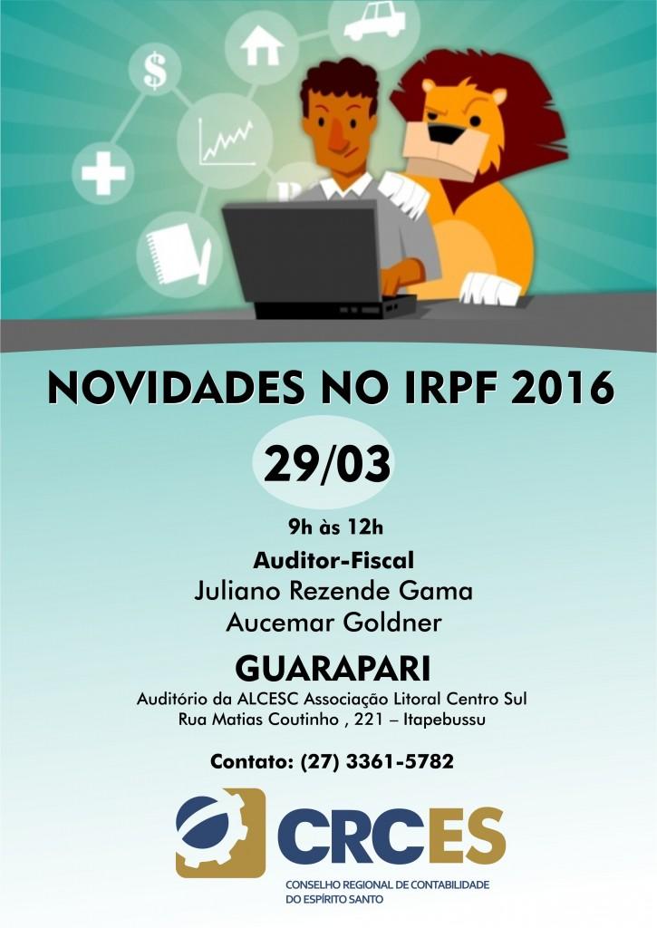 Novidades do imposto de renda_GUARAPARI_11MAR2016