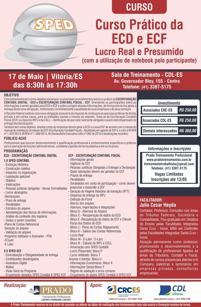Cartaz SPED ECD - CRC-ES